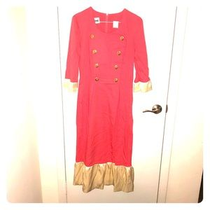Coral and Cream Vintage dress